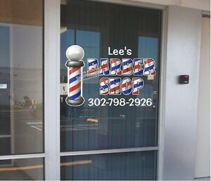 "CUSTOM 18"" x 30""  VINYL DECAL FOR BARBER SHOP HAIR DRESSER WALL OR WINDOW NEW!"