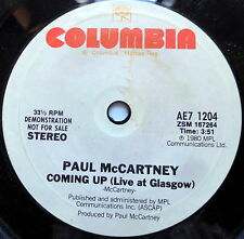 PAUL McCARTNEY promo 45 COMING UP Live At Glasgow COLUMBIA label