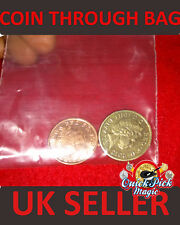 COIN THROUGH BAG TRICK / £1 SPLIT COIN MAGIC - Close Up Magic Trick