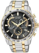 New Citizen Mens Eco-Drive AT4004-52E Two-Tone Perpetual Calendar Chronograph