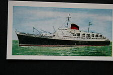 SS FLANDRE   CGT  French Line    1950's   Illustrated Colour Card