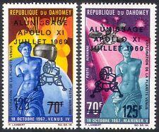 Dahomey 1969 Apollo 11/Moon Landing/Space/Rockets/Statue 2v set o/p (n40933)