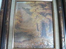 Oil Painting, Fall Scene, 10x8 approx., framed