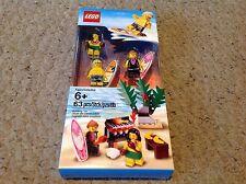Lego set of 3 Hawaiian Surfers, Hula Girl & Beach Barbeque Set. 850449. CARTON 1