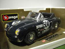PORSCHE 356 B CABRIOLET # 504 de 1961 bleu 1/18 BURAGO 3031D voiture miniature