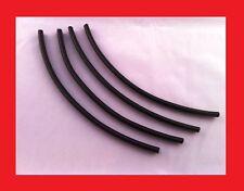 """BLACK DOOR EDGE GUARD TRIM MOLDING PROTECTORS (4) 7"""" INCH PIECES - Small Edge"""