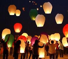 5pcs Sky Lantern New Year Party Paper Lamp Christmas KANDIL Lights Wax Glow Fly