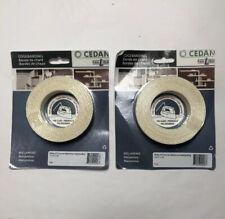 "New listing Lot Of 2 Rolls Of Cedan White 417 Iron On Melamine Edgebanding 13/16"" X 25"""