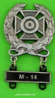 Army Expert Marksmanship Badge  M-14 Qualification Attachment Bar