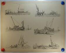 Scènes Maritimes embarcation accostage  planche 1908/SMD3