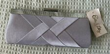 New Ladies Estee & Lilly Silver Fancy Cocktail Party Clutch Bag Purse  classy