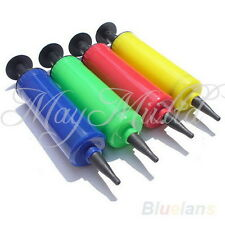 Mini Plastic Soccer Ball W/ Needle Ball Party Balloon Inflator Air Pump Sales N