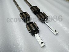 2 x HGH15CA-2R-400 mm Square Liner Rail & 4 HGH15CA Blcok Bearing