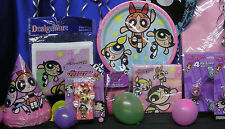 PowerPuff Girls Party Set # 27 Plates Napkins Tablecover Invites Hats Balloons++