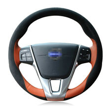 New listing For Volvo Xc60 2015-2017 Top Leather Diy Hand-stitched Car Steering Wheel Cover
