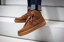 NIKE AIR FORCE 1 HIGH SUEDE TAWNY Wmn Size 7 749266-201 ecdcce961