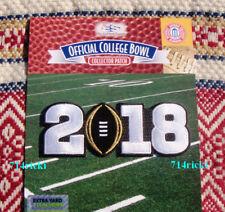 2018 College Football Championship Patch Georgia Bulldogs Alabama Crimson Tide