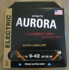 Strings By Aurora Tangerine Orange Electric Guitar Strings 9-42