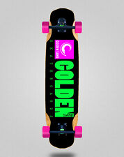 New listing Skate Longboard Complete Mix Bamboo 38x8.45 Golden Sand Icon Black Pink Green