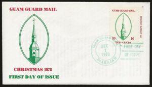 USA Guam Guard Mail ST. JOSEPH CHURCH Xmas 1st Day Cover DEC.1.1978 cancel VF