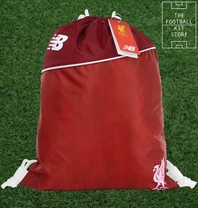 New Balance Liverpool FC Gym Bag - LFC Pull String School Sack - Black Friday
