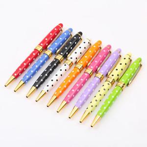 Baoer 705 Metal Twist Ballpoint Pen, Black Ink with Fine Tip, 9 Color Options