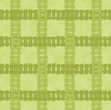 Buddy's Big Adventure Lt Olive - Train Track 100% cotton fabric by the yard