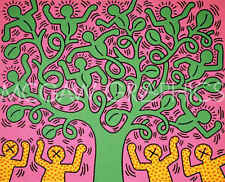 Keith Haring KH01 Abstract Contemporary Figure Tree Print Poster 30x28