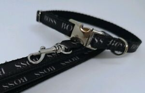 """SMALL DOG COLLAR + LEAD 8""""- 12""""  Gold or silver CHIHUAHUA. FREE FABRIC DESIGN."""