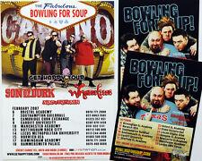BOWLING FOR SOUP TOUR FLYERS X 3 - GET HAPPY 2007 TOUR & 2011 UK TOUR