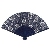 Chinese Summer Folding Hand Fan Fabric Flower Floral Wedding.Party Favor_##