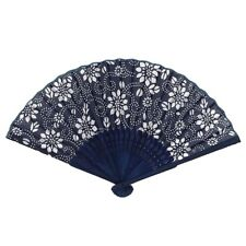 Chinese Summer Folding Hand Fan Fabric Flower Floral Wedding Party Favor