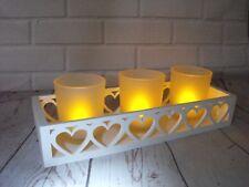 Titular de la Luz de Té Blanco Batería LED Luz Parpadeante Vela De Té Decoración de corazón