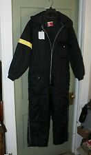 Vintage JC Penny Snowmobile  Suit  Large Black  Yellow Made USA