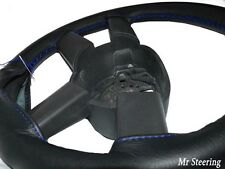 REAL GRAIN LEATHER STEERING WHEEL COVER FOR MERCEDES ACTROS 3 07-11 BLUE STITCH