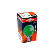1x OSRAM GOTAS Decoración Color Verde 25w E14 Bombilla incandescente 25