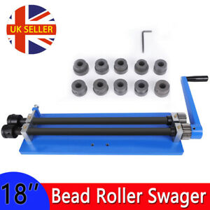 """18"""" Manual Bead Roller Former Swager Rotary Swaging Machine Rolling Tool 6 Roll"""