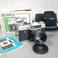 CAMERA ZENIT E SLR Russian Soviet USSR  lens Helios-44-2