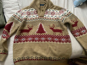Mens Christmas Jumper Size Large By Cotton Traders