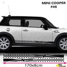 Fits Mini Cooper Side Racing Stripe Car Stickers Graphics Vinyl Flags UK