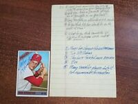 John Herrnstein 1966 Topps Autographed Baseball Card w/ letter Alex Stern Collec