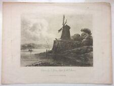 Original RARE 1811 Antique Soft-ground Etching W Sherlock After Thomas Girtin