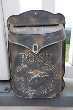 Nostalgie Ausgefallener Briefkasten Postkasten Metall 40x28cm Retro Shabby NEU s