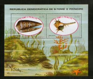 Sao Tome Block 56 ** Meeresschnecken (1981)