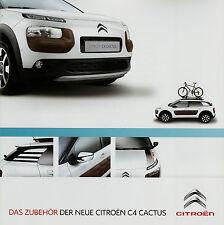 Prospekt Citroën C4 Cactus Zubehör 2014 Broschüre Citroen brochure accessoires