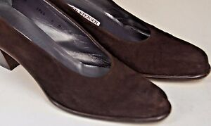 Walter Steiger Classic Pumps Size 8 US Suede Brown Career Cute Italy Round Toe
