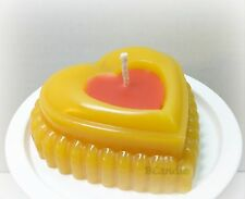 """Heart Candle - Beeswax Candles - Decorative Beeswax Candle - 3""""x1"""""""