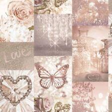 Love Paris Blush Pink Glitter Sparkle Wallpaper