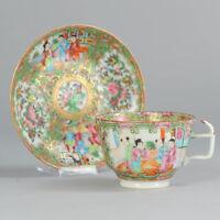 Antique 18c Qing Qianlong Period Mandarin Porcelain Dish Chinese Qing China Art