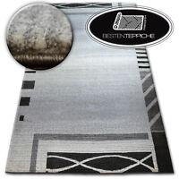 Dick Qualität 20mm Modern Design Dicht Weiche Teppiche SHADOW 8597 silber